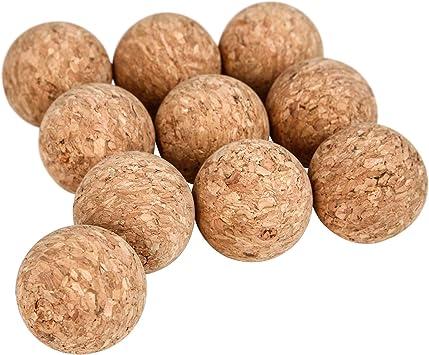 Jago Bolas blandas de corcho natural para futbolín (juego de 10 ...