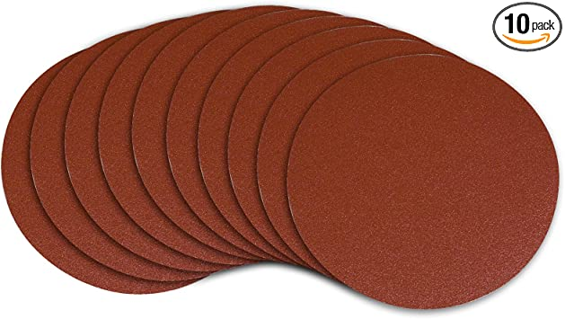 50 Pack, 60 Grit 6 PSA Adhesive Sticky Back Tabbed Sanding Discs