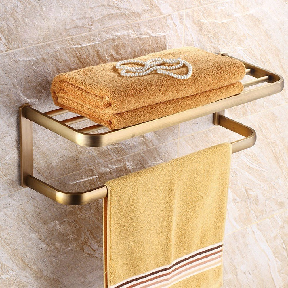 HQLCX Antique Towel Bar, All Copper European Style Towel Bar by HQLCX-Towel Bar