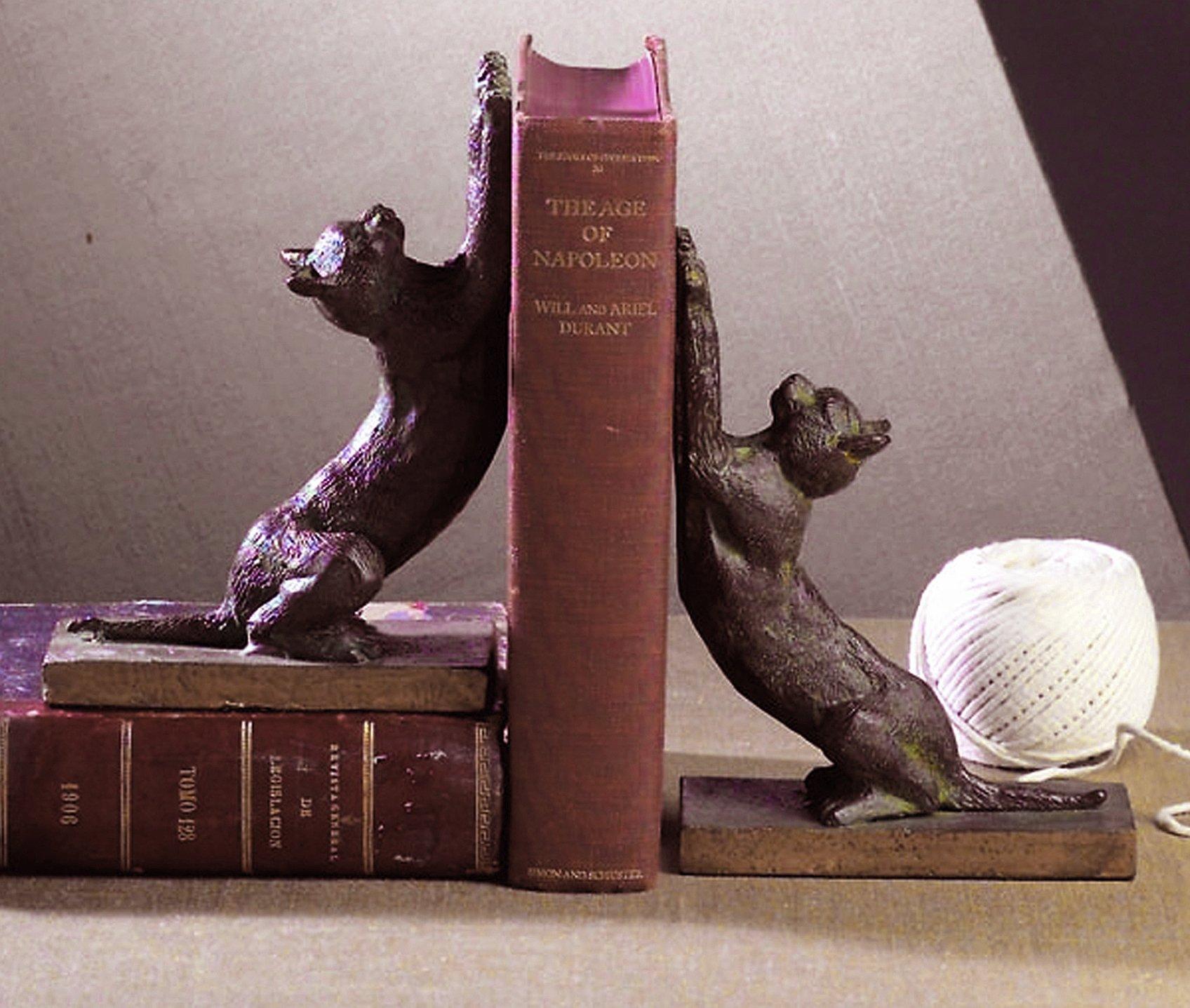 Clearance Sale - Frisky Feline Bookends - Cat Bookends - Cat Book Ends