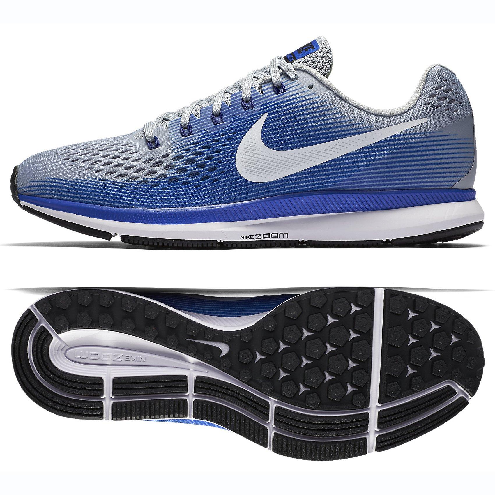 1bf0859474b57 Galleon - NIKE Air Zoom Pegasus 34 880555-007 Wolf Grey White Blue Men s  Running Shoes (10.5 B US)