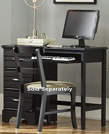 Marvelous Carolina Furniture Works 3 Drawer Desk With Pull Out Tray, Black