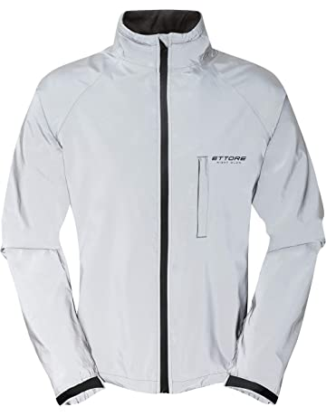 8c88f44d015a7 Ettore Mens Cycling Jacket Waterproof Breathable High Visibility Reflective  Silver - Night Glow