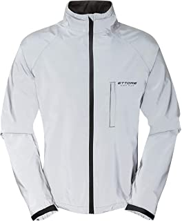 Ettore Mens Cycling Jacket Waterproof Breathable High Visibility Reflective  Silver - Night Glow e20bad467