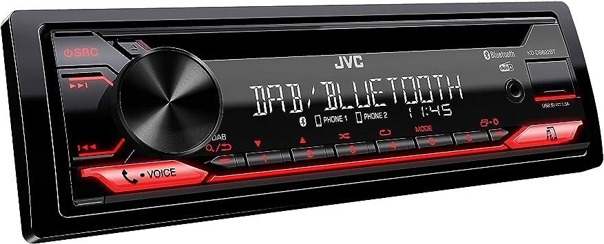 Jvc Kd Db622bt Cd Autoradio Mit Dab Und Bluetooth Freisprecheinrichtung Soundprozessor Usb Aux In Spotify Control 4 X 50 Watt Rote Tastenbeleuchtung Dab Antenne Navigation