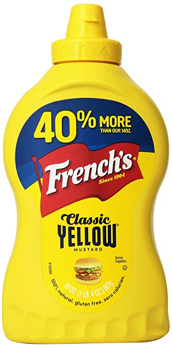 bfe55b4ca517 Amazon.com   French s Classic Yellow Mustard Family Size 20 oz (Pack ...