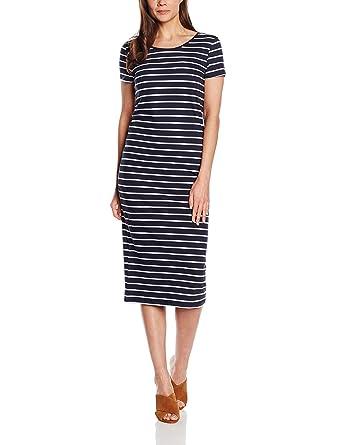 ONLY Damen Kleid 15112079, Maxi, Gestreift  Amazon.de  Bekleidung 4b0a1b85fd
