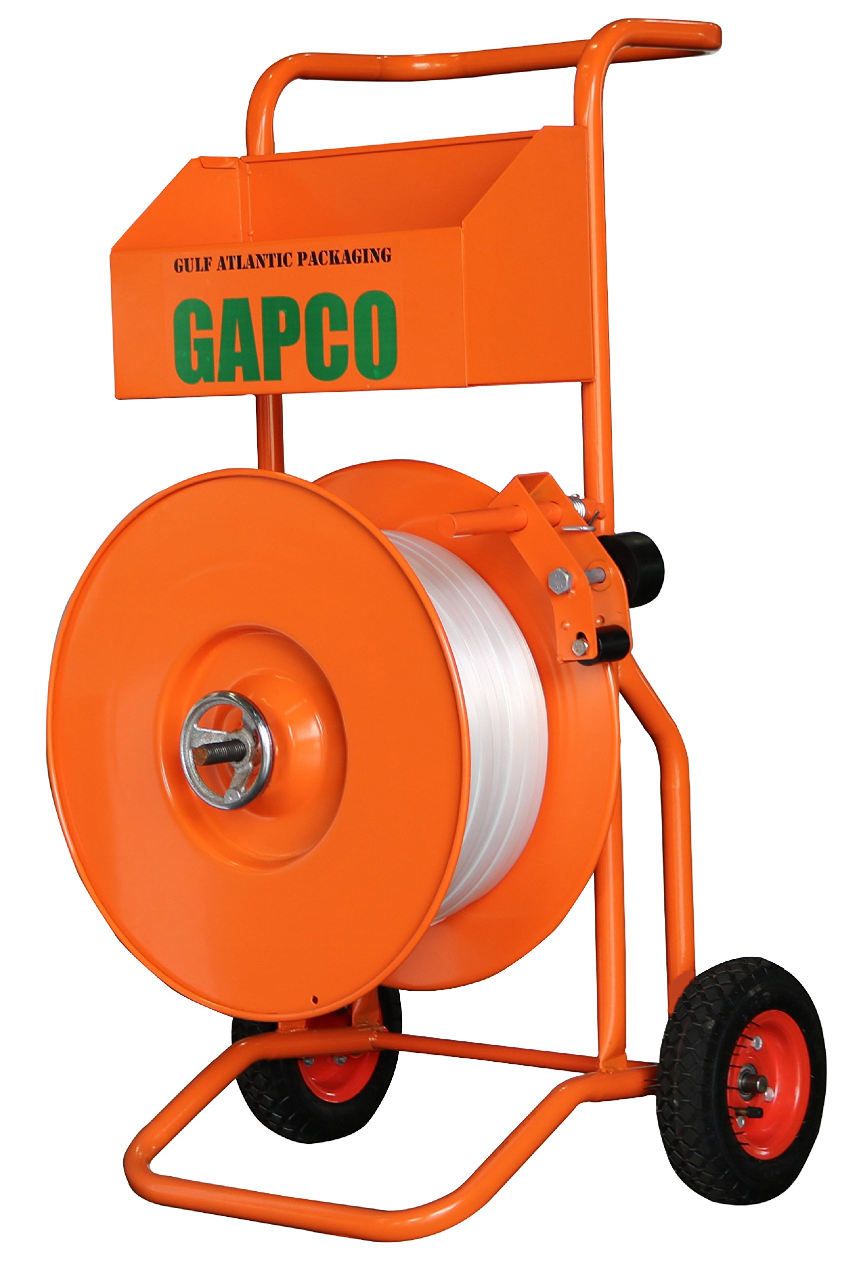 GAPCO T-75 Deluxe Heavy Duty Polyester Woven and Composite Cord Strapping Dispenser / Banding Cart