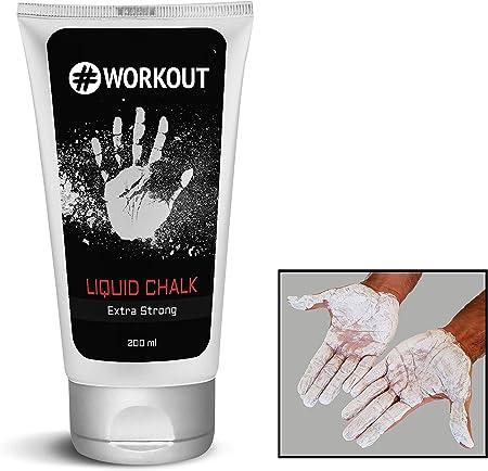 #Workout Magnesio líquido para un Agarre óptimo de Las Manos | Marca Tiza líquida para Escalada, Crossfit, Gimnasio, Pole Dance …