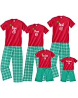 Footsteps Clothing Personalized Matching Family Of Elves Christmas PJS