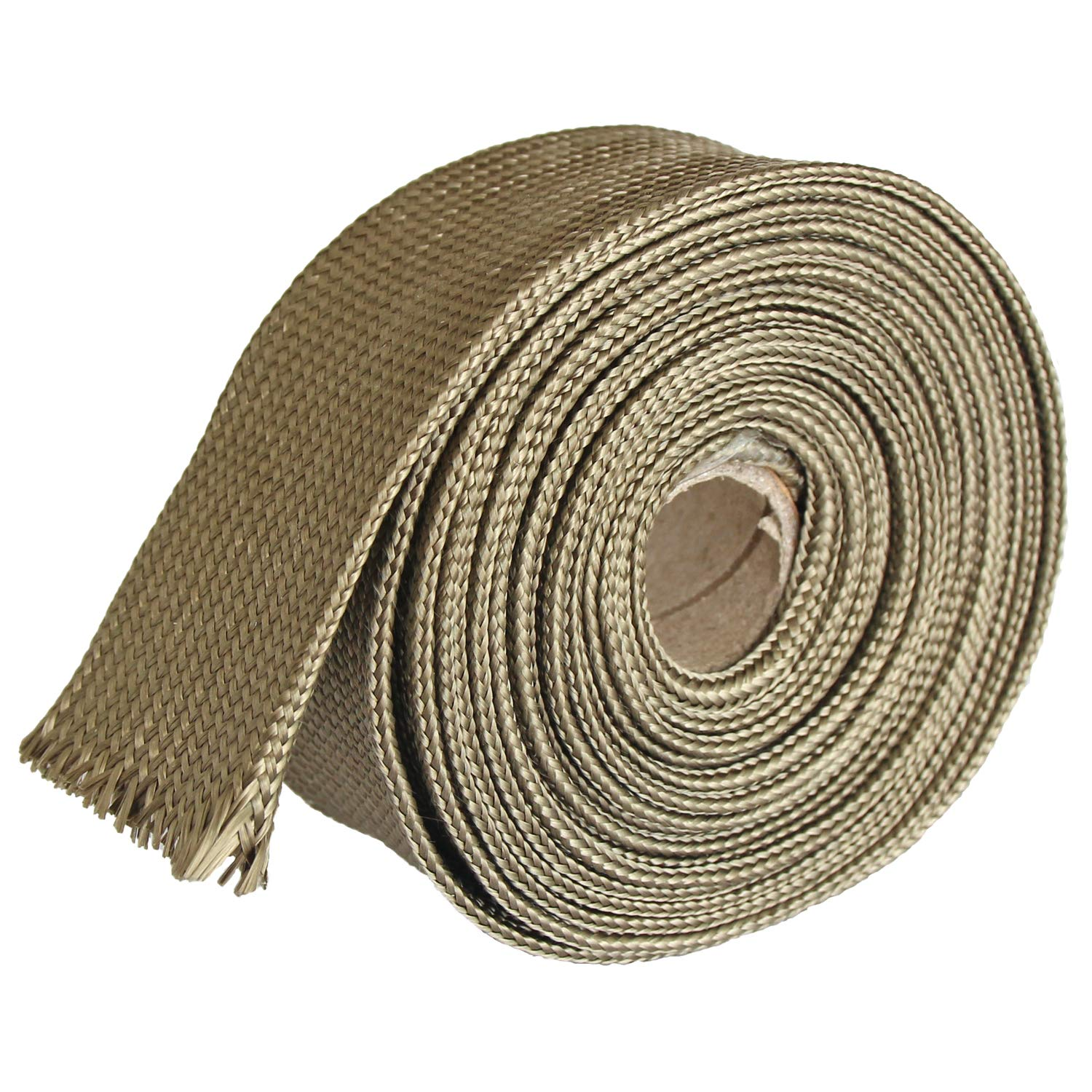 1 ID X 10 Adjustable Titanium Exhaust Heat Shield Spark Plug Wire Heat Shield Roll For Car/&Auto Wire Loom Brake Line Cable line sleeve protection Titanium Fiberglass Heat Wrap Wire Shield Sleeve