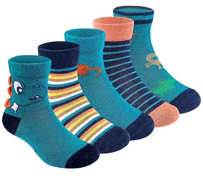Amazon.com: Calcetines de algodón para bebé, diseño de ...