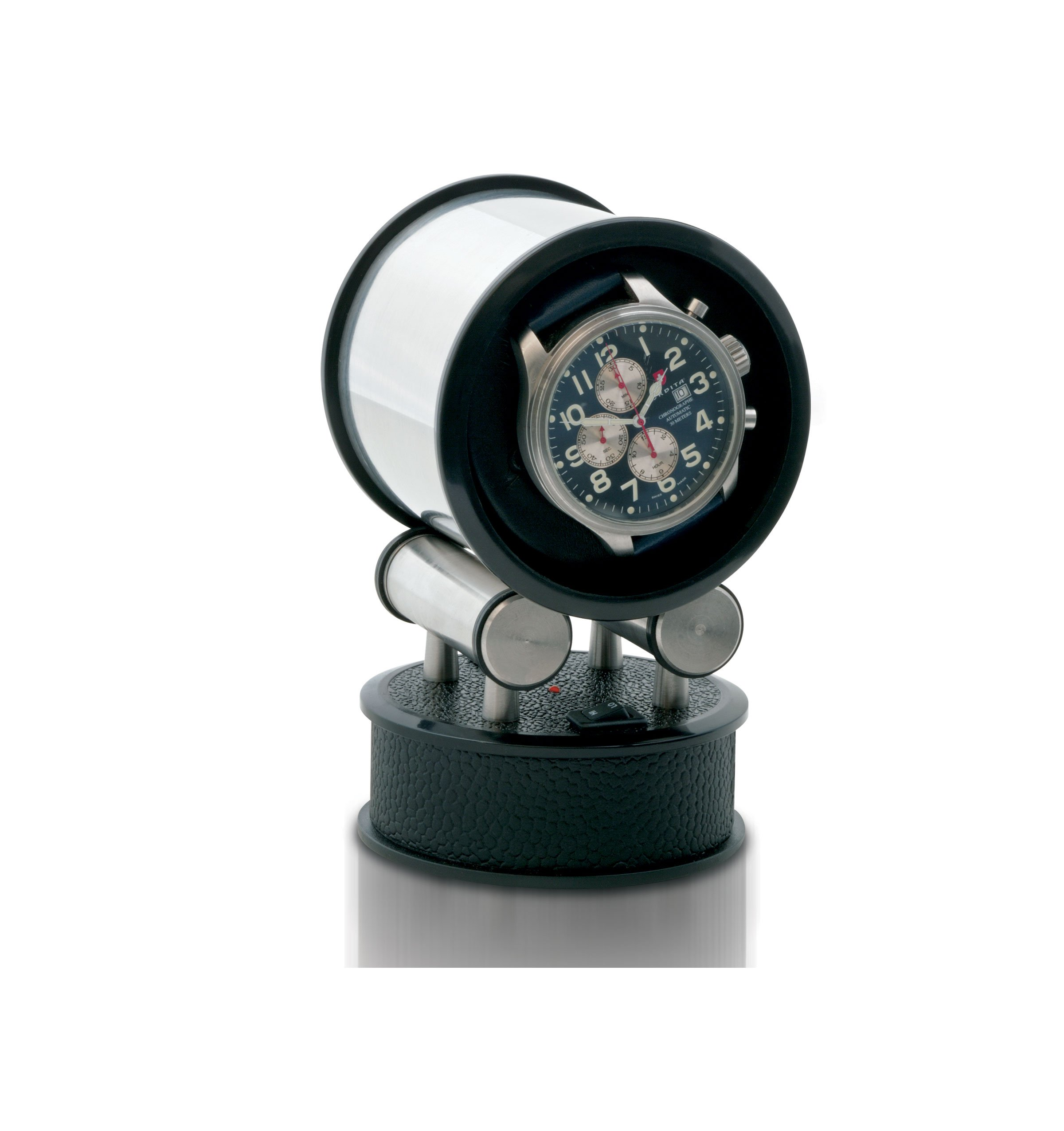 Voyager 1 Watch Winder with Leather Traveling Case by Orbita by Orbita (Image #1)