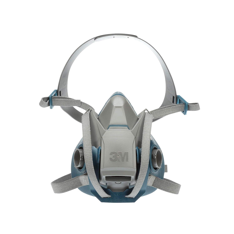 3M Rugged Comfort Quick Latch Half Facepiece Reusable Respirator 6503QL/49492, Large, Gray/Teal