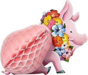 Beistle Luau Pig Centerpiece, 12-Inch