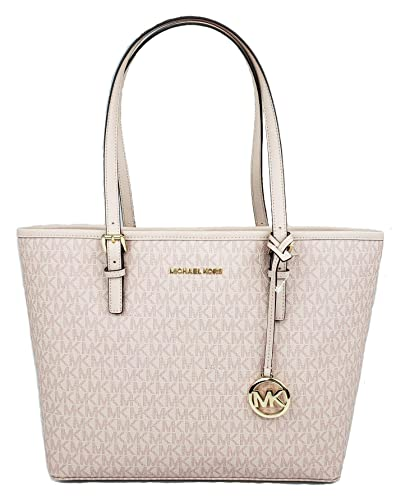 6179eae35 Amazon.com: MICHAEL Michael Kors Jet set travel medium MD carryall tote bag  signature PVC ballet pink: Shoes