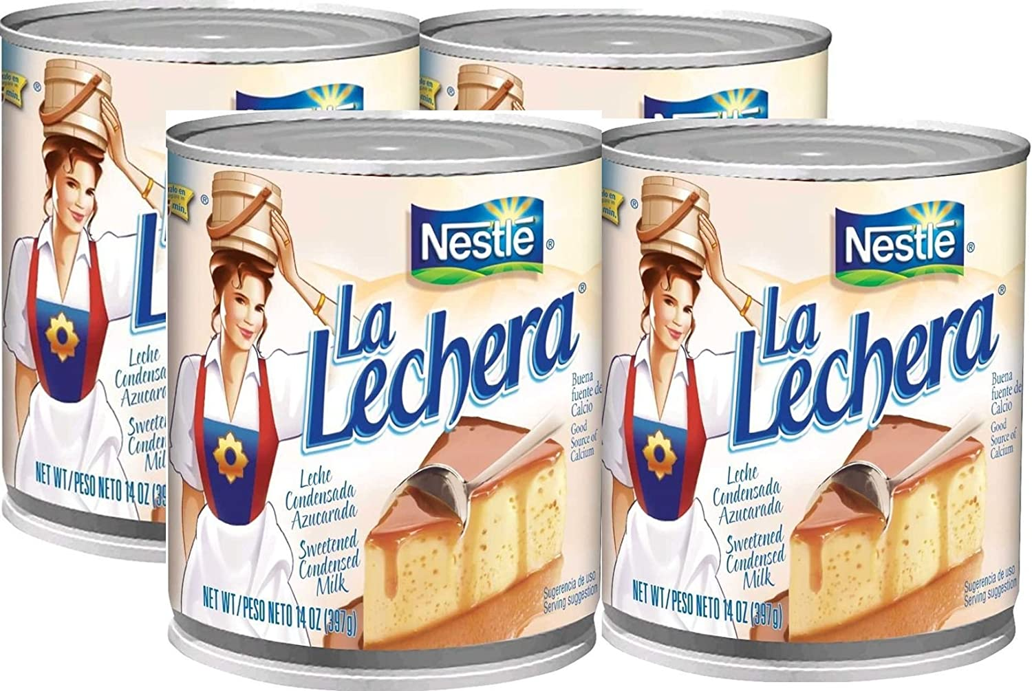 Amazon.com : Nestle La Lechera - 4/ 14 oz : Sweetened Condensed Milk : Grocery & Gourmet Food