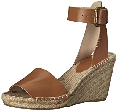 6ace69665be Soludos Women's Open Toe Leather Espadrille Wedge Sandal, Tan, 9 M ...