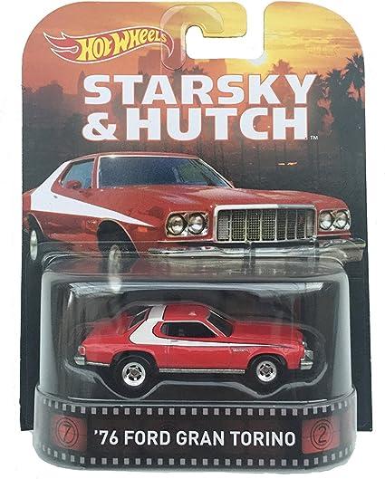 1976 Ford Grand Torino Starsky /& Hutch 1:64 Hot Wheels CFR34 Retro Entertainment
