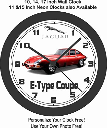 Amazon Com Jims Classic Clocks 1961 Jaguar E Type Coupe Big 10
