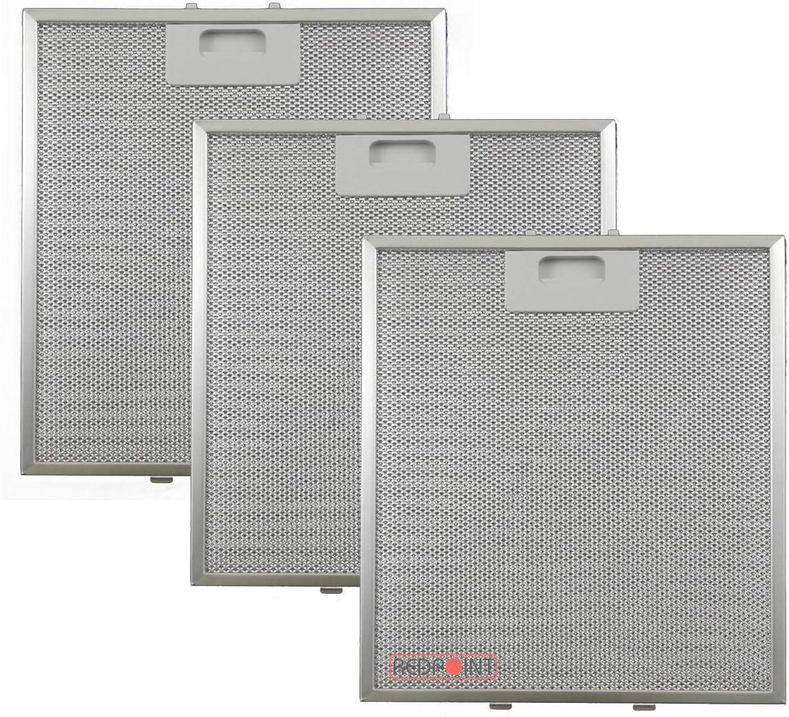 Kit de 3 unidades. Filtros de aluminio para campanas extractoras de 267 x 305 x 9 - Adaptabilidad: