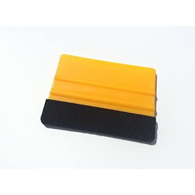AlphaVinyl Hard Plastic Professional Grade applicator Vinyl Sticker Tint Felt Squeegee: Automotive