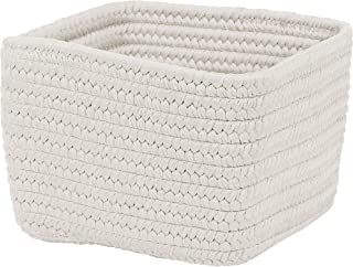 "product image for Colonial Mills Braided Craft Basket, 12""x12""x8"", Powder White"