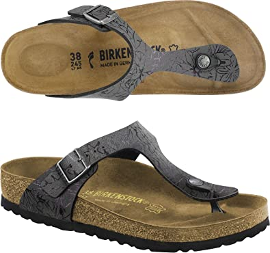 BIRKENSTOCK GIZEH flip flops TONGS chaussures sandales (38 EU, AMAZONAS OLIVEVIOLET)