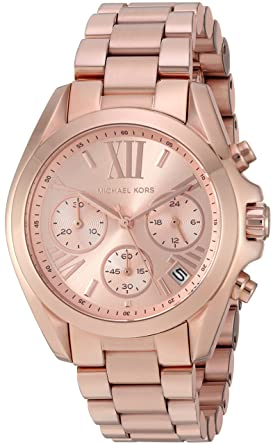 e4d06a03e16ab Amazon.com  Michael Kors Women s Bradshaw Rose Gold-Tone Watch ...