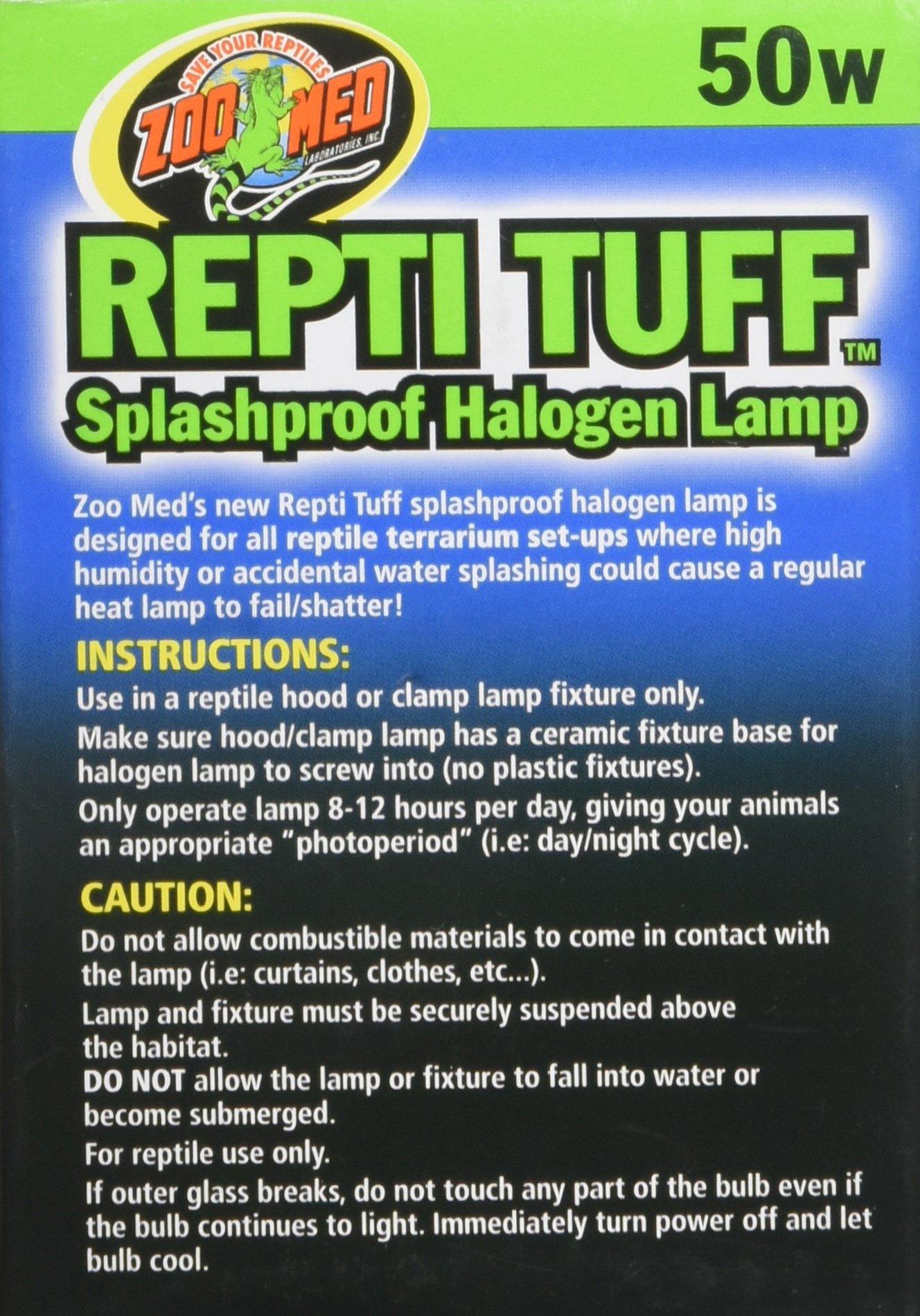 Zoo Med Repti Tuff Splashproof Halogen Lamp 50 Watts