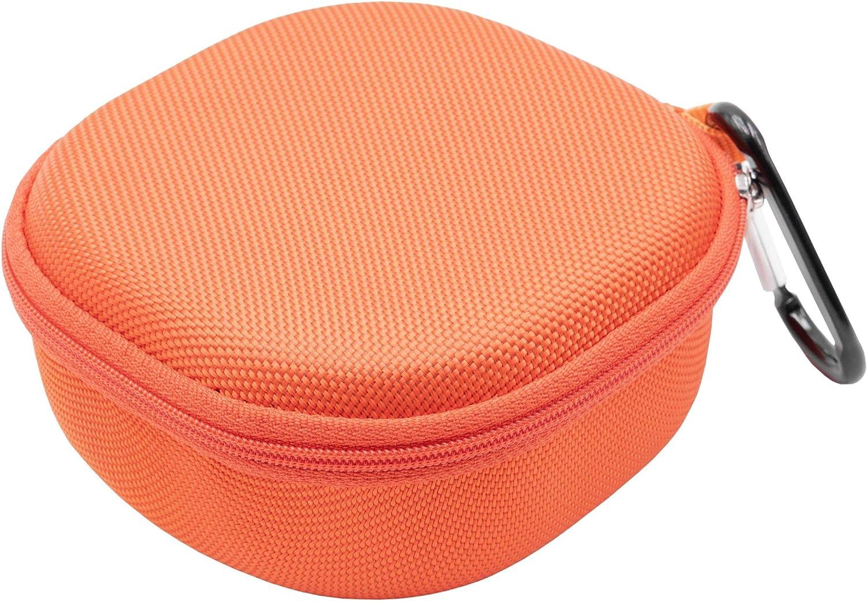 vhbw Bolsa Estuche para Bose Soundlink Micro Cajas de Sonido Bluetooth; Naranja//Negro; Forro Interior Suave; Bolsillo Interior de Malla Funda