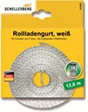 Schellenberg 41203 Rollladengurt 14 mm/12.0m, weiß