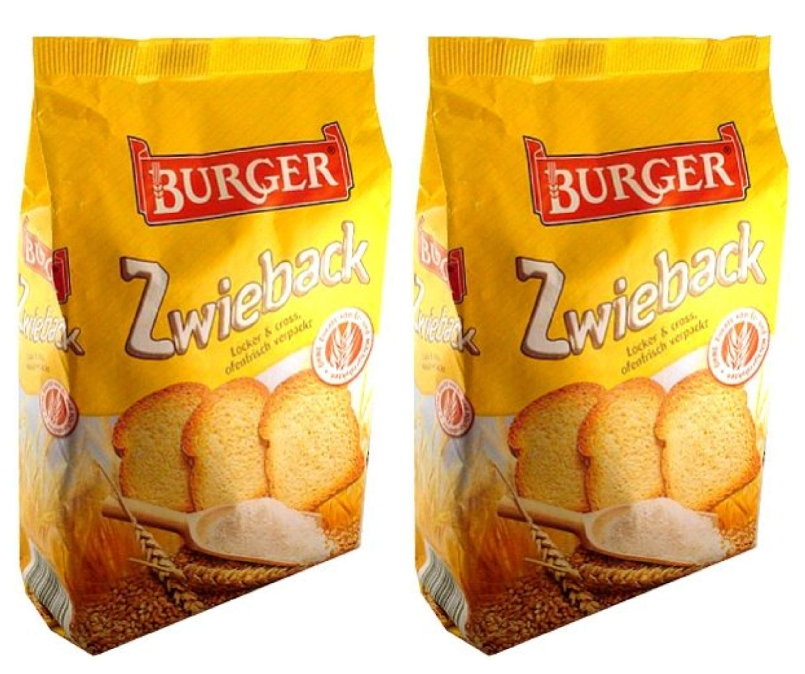 Burger Zwieback Rusk Bread From Germany Pack of 2 by Burger