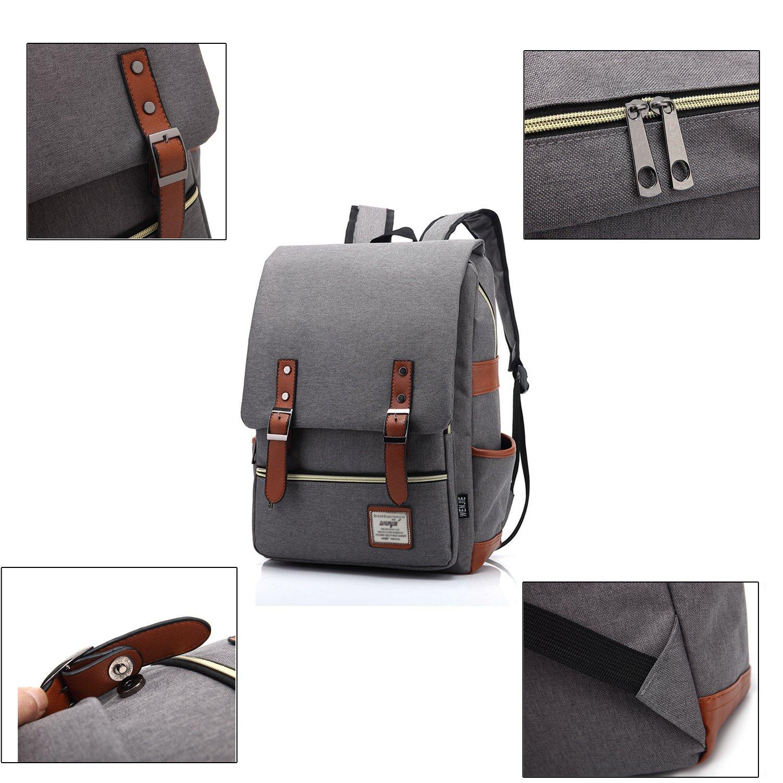 alazan Laptop de mochilas Mujer Hombre para 15,6 mochila escolar City - Mochila de viaje para oficina 29L × 13,5b × 43h cm (gris): Amazon.es: Deportes y ...