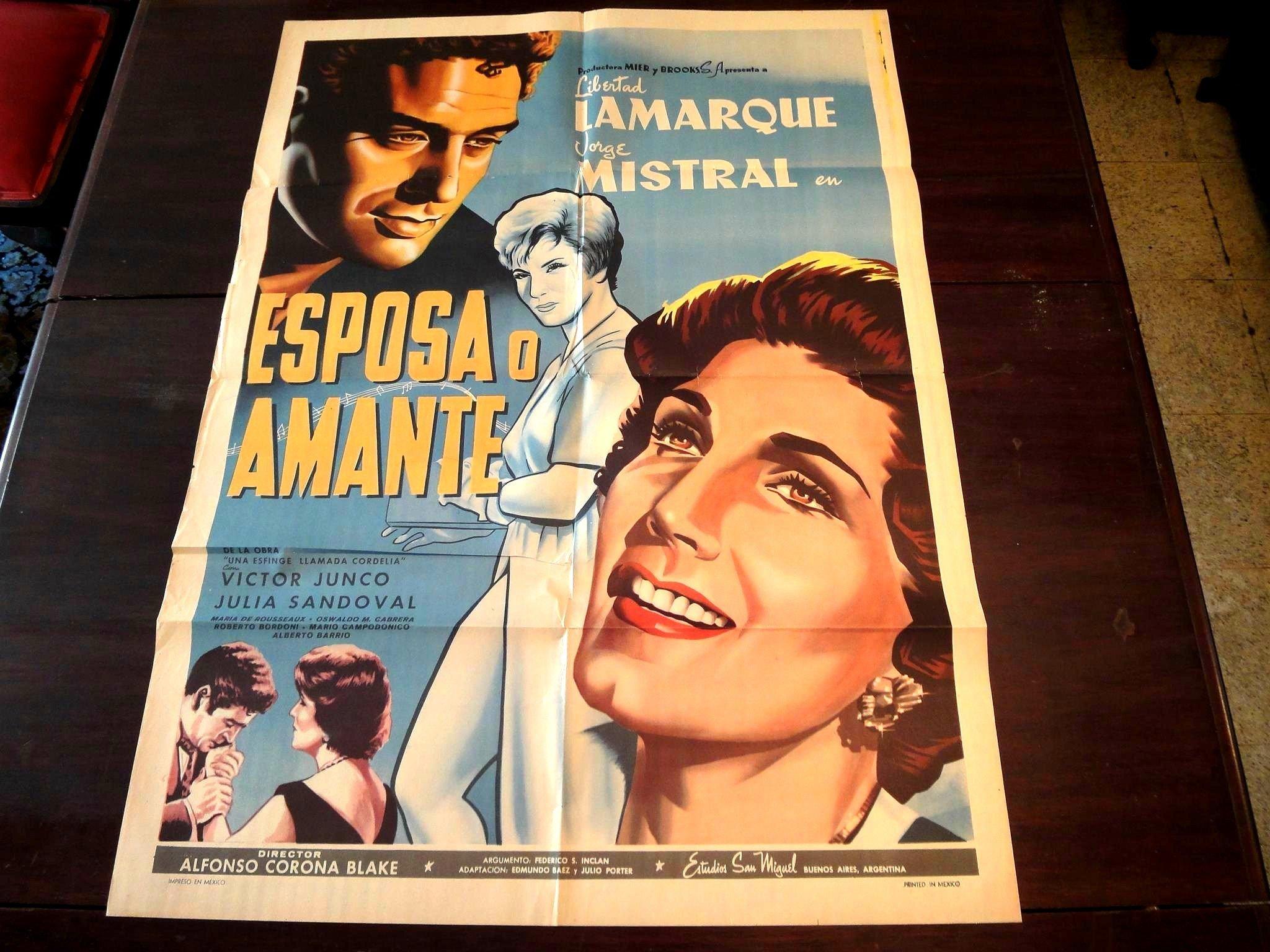 Original Mexican Movie Poster Esposa O Amante Libertad Lamarque Jorge Mistral: Amazon.es: Libertad Lamarque: Libros