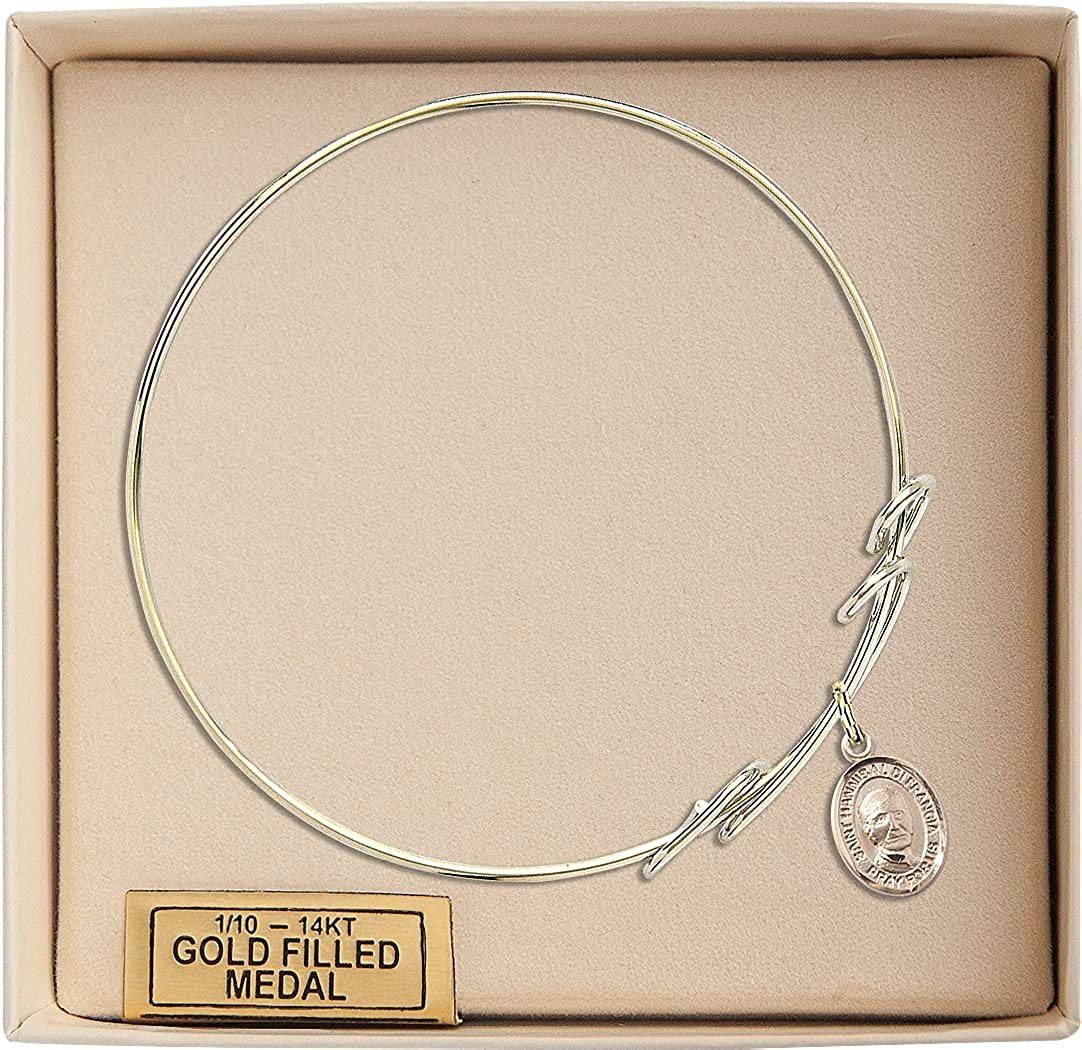 Hannibal Charm On A 8 Inch Round Double Loop Bangle Bracelet St