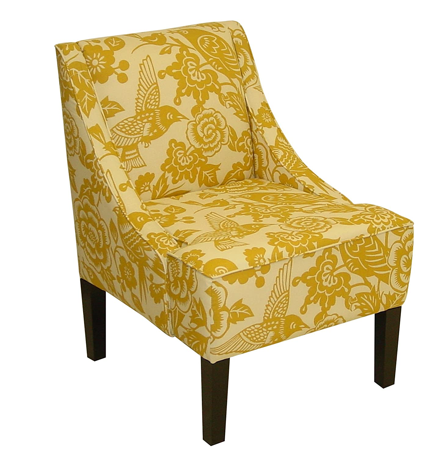 Amazon Skyline Furniture Swoop Arm Chair in Canary Maize