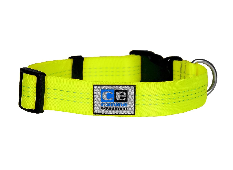 Neon Yellow Medium 1\ Neon Yellow Medium 1\ Canine Equipment 1  Technika Utility Dog Clip Collar, Medium, Neon Yellow