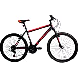 Falcon Men's Maverick Mountain Bike, Black/Red, 12 Years