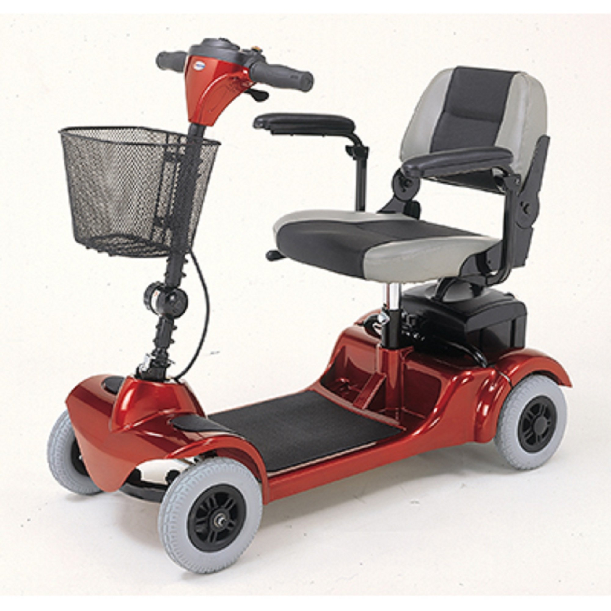 Merits Health Products - Mini Coupe - 4-Wheel Super Micro Electric Scooter - 16.5''W x 15.5''D - Red