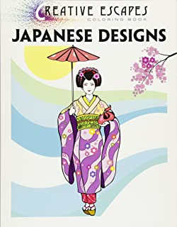 Creative Escapes Coloring Book Japanese Designs