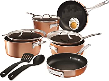 10-Piece Gotham Steel Stackable Pots and Pans Set