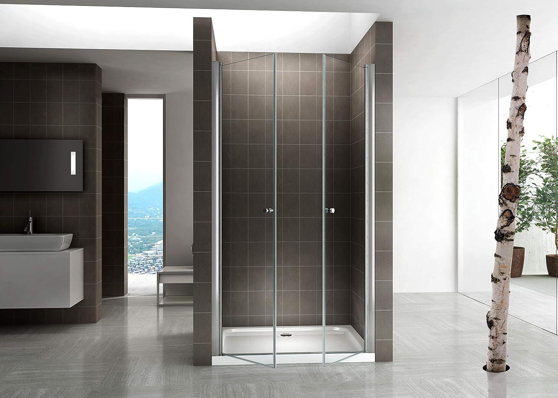 CADENTRO Porte de Douche Hauteur 195 cm Largeur r/églable//Verre Transparent 124 /à 128 cm