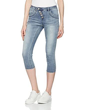 Cream Floriana Jeans-Bailey Fit, Short Femme, (Vintage Blue Denim 60070), 42 (Taille Fabricant: 31)