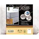 Protetor de colchão impermeável Classic Slip Malha - Casal 1,4x1,9 m - Fibrasca, Branco
