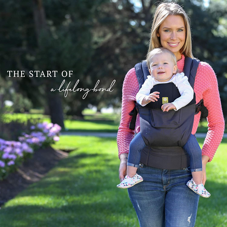 Original 360/° Ergonomische Baby /& Kindstrage von LILLEbaby Dunkelgrau schwarz SECHS Positionen