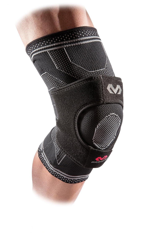 McDavid MD5147-01-34 Elite Engineered Elastic Knee Brace with Dual Wrap & Stays, Black, Large