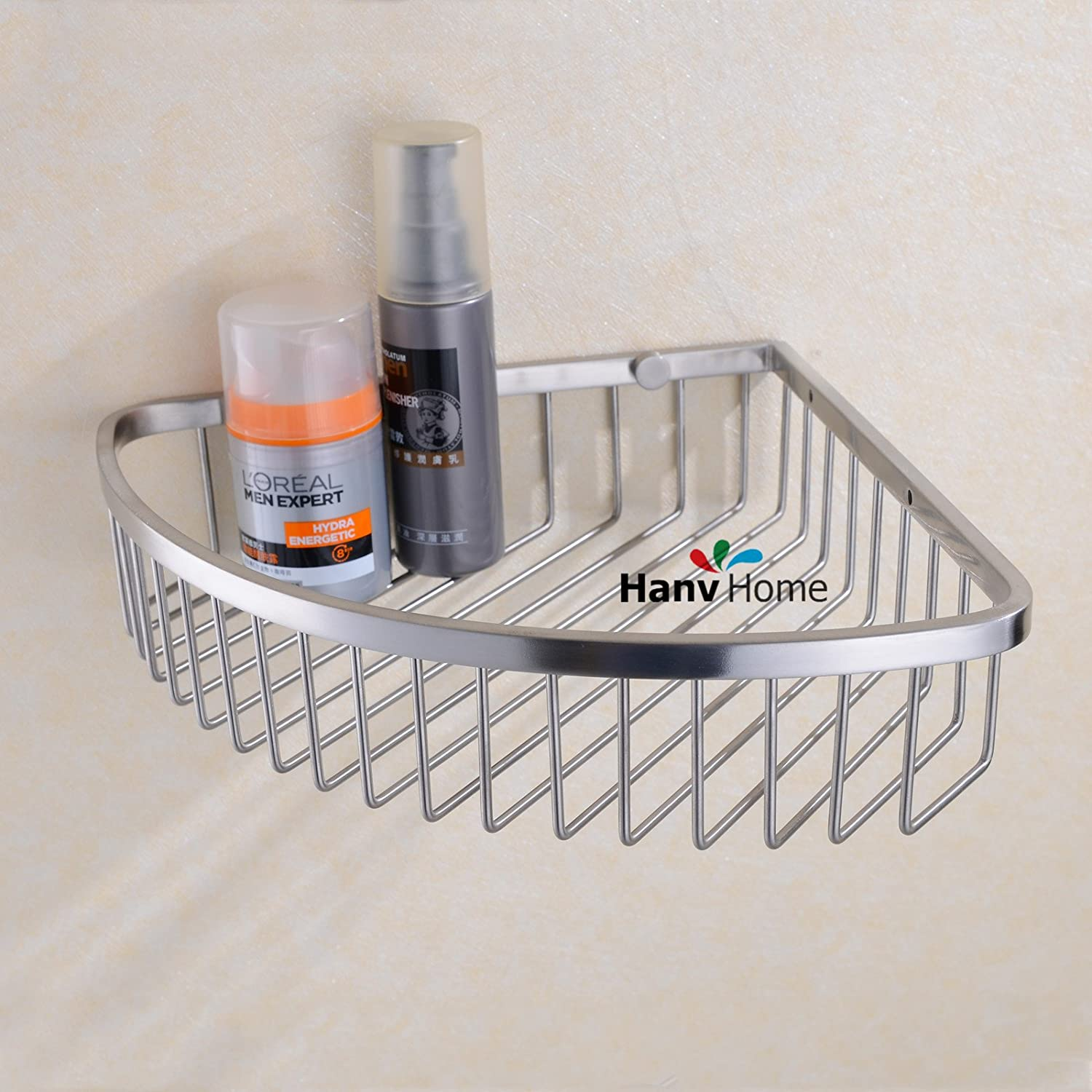 Amazon.com: Corner Shower Caddy - Stainless Steel Bathroom Wall ...