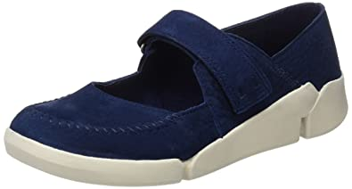 Tri Amanda Chaussures Velcro Noir Clarks vHDM5