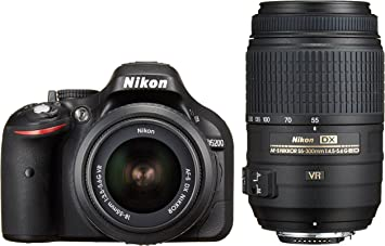 Nikon Digital Single Lens Reflex Camera D5200 Double Zoom Kit Af S Dx Nikkor 18 55mm F 3 5 5 6g Vr Af S Dx Nikkor 55 300mm F 4 5 5 6g Ed Vr Black D5200wzbk Camera Photo